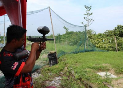 Paintball Game In Progress