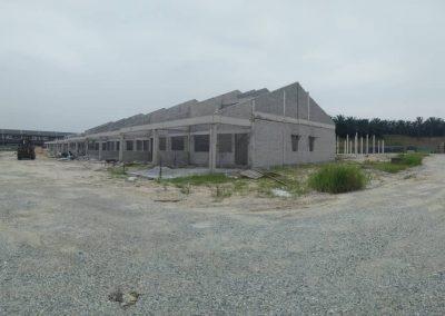 Phase 3 - Single Storey Terrace House (Brickwork in progress)