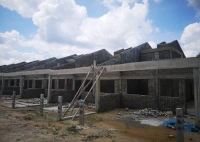 Phase 3 – Single Storey Terrace House (Brick Works in progress)