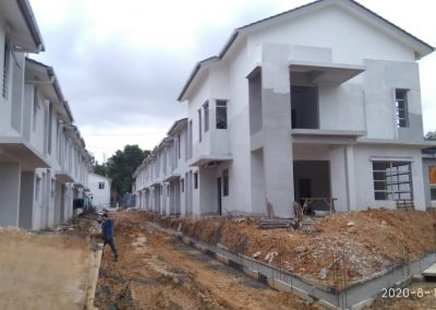 Erica : 2 Storey Terrace Houses (External infrastructure work in progress. Building structure is 70% completed)