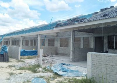 Phase 2 - Single Storey Terrace Houses (Roof Truss and Covering in progress)