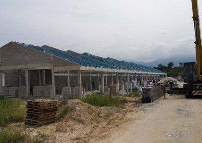 Phase 2 – Single Storey Terrace Houses (Roof Truss & Brick Work in progress)