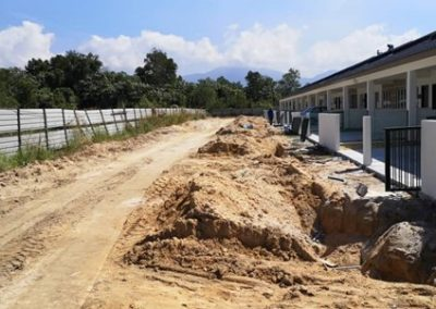 Phase 3 – Single Storey Terrace Houses (Road Work in Progress) – Block 1
