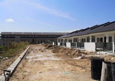 Phase 3 – Single Storey Terrace Houses (Road Work in Progress) – Block 2