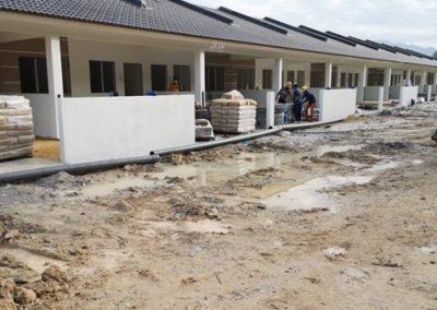 Phase 2 – Single Storey Terrace Houses (Tiling Work in Progress) – Block 4