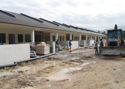Phase 2 – Single Storey Terrace Houses (Water Reticulation Work in Progress) – Block 4