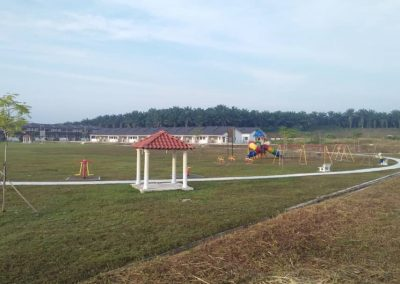 Open Space with Children Playground, Jogging Track and Gazebo
