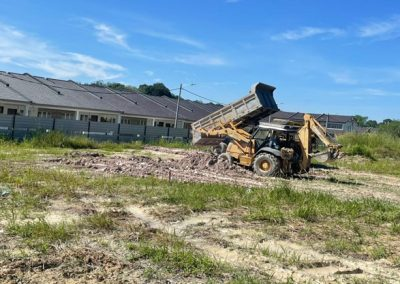 Phase 3B – Single-Storey Terrace Houses (Leveling and Compaction work in progress)
