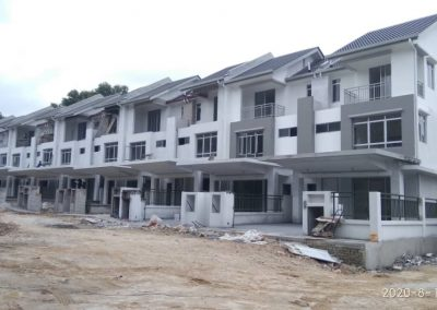 Iris : 3 Storey Terrace Houses (External infrastructure work in progress. Building structure is 70% completed)